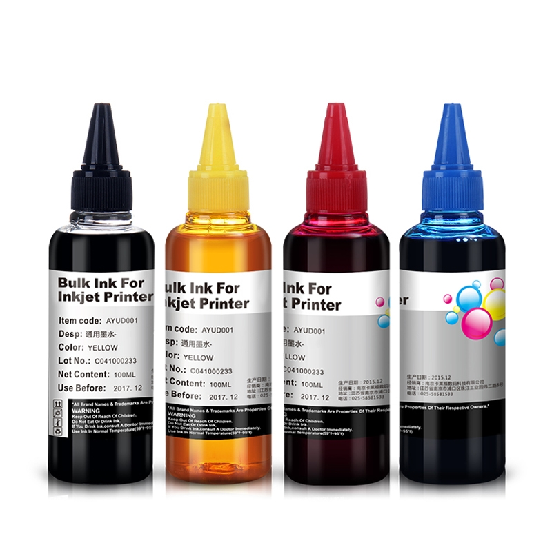Universal 4 Color Dye Ink For Epson Premium Dye Ink bulk ink General For epson printer ink all models<br><br>Aliexpress