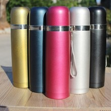 Double wall vacuum flask stainless steel thermal bottle with rope child tea filter tumbler bullet thermo mug printing logo