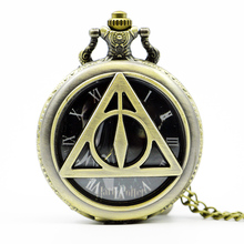 Hot Movie The Deathly Hallows Lord Voldemort Quartz Men Women Bronze Pocket Watch Retro Pendant Necklace Analog Watches Gift