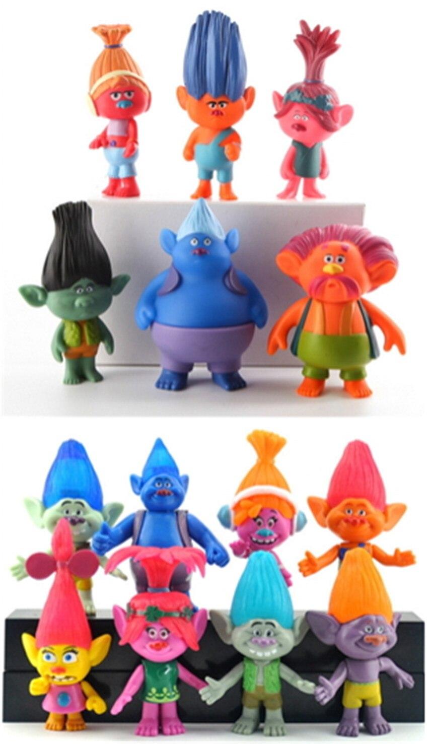 DreamWorks Cartoon Trolls Cosplay PVC Figure Kids Toy Collection<br><br>Aliexpress
