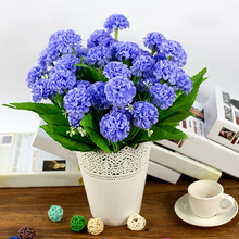 1 Bunch 9 Head Artificial Hydrangea Silk Flower Bouquet Wedding Party Decor