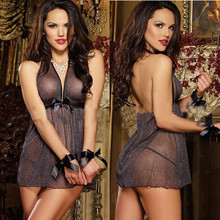 2017 Top Sales Women's Sexy Lingerie Lace Erotic Lingerie Babydoll teddy Costume transparent Sleepwear Nightwear Underwear