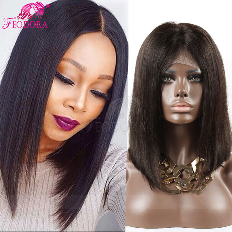 In Stock Human Hair Full Lace Wigs Unprocessed Straight Lace Front Wigs Natural Baby Hair Hairline 7A Grade 130% Human Hair<br><br>Aliexpress