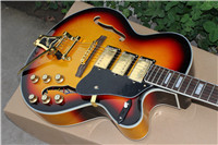 Factory Custom Guitar Falcon Semi Hollow Body Jazz Electric Guitar in sunburst color , good quality(China)
