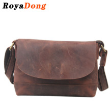 RoyaDong 2017 Women Messenger Bags Designer Handbags Crazy Horse Vintage Small Shoulder Bag Ladies Genuine Leather Bag