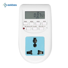 EU Plug New Energy Saving Timer Programmable Electronic Timer Socket Digital Timer Household Appliances For Home Devices HotSale(China)