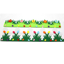 Flower Fence Felt Cloth Material DIY Free Cutting Cute Pendant Green Grass For Home Decoration Children Roon Decoration New Hot(China)