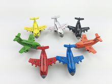 3pcs Children plastic toy aircraft colorful Mini Planes Model mini multi-colored toy model