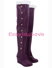 Custom Made American Game LOL Heart Seeker Ashe Cosplay Shoes Long Boots For Christmas Halloween Festival CosplayLove