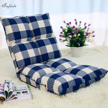 Fashionable deck chair leisure  Sofa Folding Single Small Sofa Bed Computer Chair Dormitory Piazza Japanese Style Backrest Chair