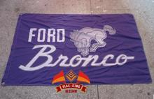 Ford Bronco Automobile Exhibition flag,car brand logo banner,free shipping ,90X150CM size,100% polyster