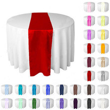 30cm x 275cm silk-like satin table runner wedding party banquet venue table decoration