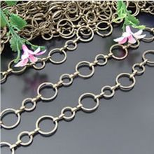 necklace big chain 12mm 8mm circle brass necklace chains 2 meter / lot free shipping(China)