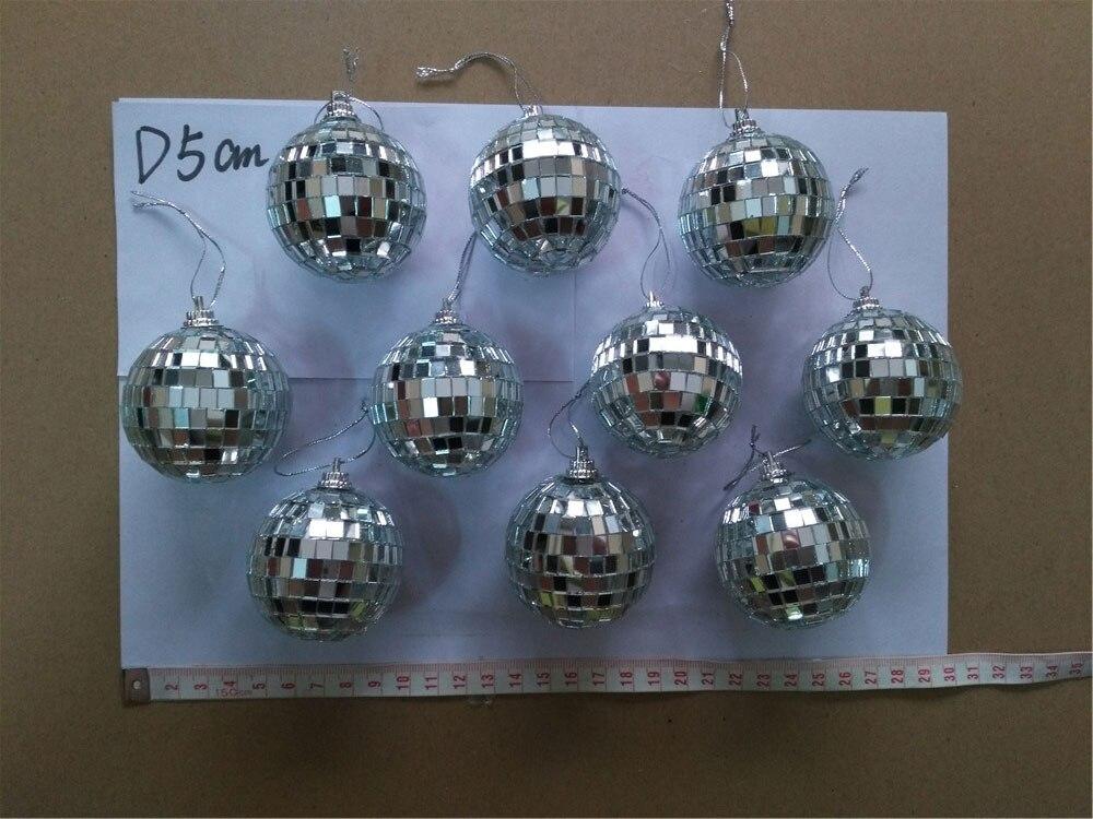 pack of 10 D5cm 2 disco mirror ball Christmas tree decoration mirror balls Xm Xmas home party globe bauble balls 10pcs/lot  set<br>