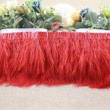 1yard Turkey Feather Ostrich Feather Dance festival party hat boots Clothing wedding accessories decoration Ribbons red optional