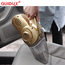 QUIDUX Multi-function Portable Car Vacuum Cleaner 12V 4 IN 1 High-Power Wet and Dry Aspirador Pressure Pneumatic Lighting(China)