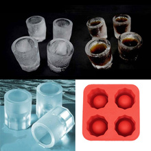 Cool Ice Tray Party Shooters Supplies Shot Glasses Cool Shooters Ice Tray Free Shipping(China)