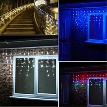 Holiday Lighting 5Mx(0.4 0.6 0.8)M 216LED Waterproof String Light Fairy Icicle Curtain For Festival Christmas Garland Decoration