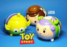 Limited Collection Original Rare Tsum Tsum Toy Story Woody Buzz Lightyear Alien Cute Figure Toy Storage Box Kids Birthday Gift