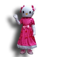 High quality Miss Hello Kitty mascot costume Adult Size()