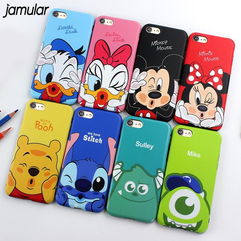 JAMULAR Mickey Minnie Donald Daisy Duck Phone Case iPhone X 8 7 Plus TPU Cartoon Soft Back Cover iPhone 7 6s XR XS MAX