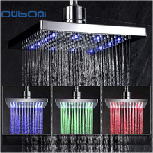 LED Comfortable Luxury New Bathroom Rainfall Shower head Polished Mixer Taps Shower Faucets Set Chrome Finished
