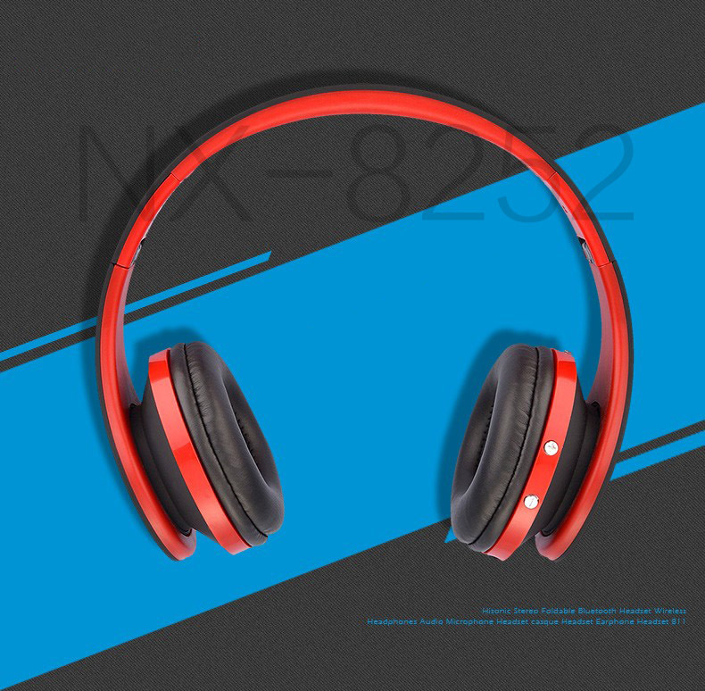 Rinsec Bluetooth Headset Wireless Headband HIFI Headphone with Mic Wired Connection Adjustable for iPhone Xiaomi Huawei for PC