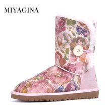 Buy Top 2018 New Genuine Sheepskin Leather Women Snow Boots 100% Natural Fur Winter Boots Warm Wool Boots Winter Shoes for $60.00 in AliExpress store
