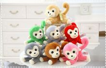 small cute plush monkey toy creative lying monkey doll gift about 25cm(China)