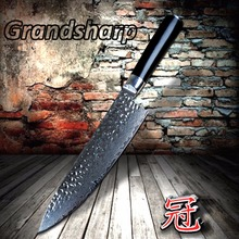 Chef Knife Japanese Damascus steel 67 Layers Damascus kitchen knives cooking tools G10 handle Japanese Chef Knife Razor Sharp(China)