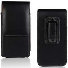 Luxury Universal Vertical Flip Leather Pouch Case For ZTE Nubia Z9 Max Mini Z7 Max Black Belt Clip Phone Bag(China)