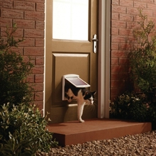 Hot!! Plastic Lockable Pet Cat Small Dog Flap Safe Door New Safe Good Quality Large Size Hot Sale white color(China)