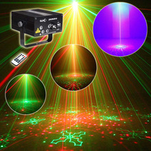 SUNY Xmas Remote 4 Lens 80 Patterns RG Laser BLUE LED Stage Lighting Z80RGRG DJ Show Light Green Red Home Professional Light