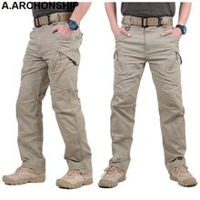 Tactical Pants Combat-Trousers SWAT Mens Cargo Army Outdoors Casual Cotton Ix9-Ii