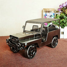 Antique classic cars model Vintage Iron metal craft handmade Retro Ornament Bar/Pub/Cafe/Shop decoration business gift(China)