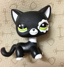 LITTLEST PET Animals Collection LPS Figure For Girl Children  Black Short Hair Cat  DWA261  #2249