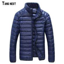 TANGNEST Men Down Coats New Casual Ultralight White Duck Down Portable Winter Jackets for Man Winter Parkas Thin MWY262(China)