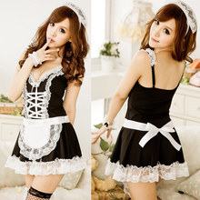 Buy 2018 Alishebuy Sexy Lingerie Sexy Underwear Lovely Female Maid Lace Sexy Miniskirt Lolita Maid Outfit Sexy Costume Sex Products