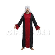 Arab Emirates Kings Costume for Men Halloween Adult Male Cosplay Arabic King Dress Stage Performance Dress Fancy Dress GT402