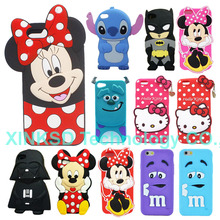 Phone Back Shell For Apple iPhone 7 Case Cute 3D Cartoon  Stitch Star Wars Darth Vader Soft Silicon Cover Skin For Iphone7