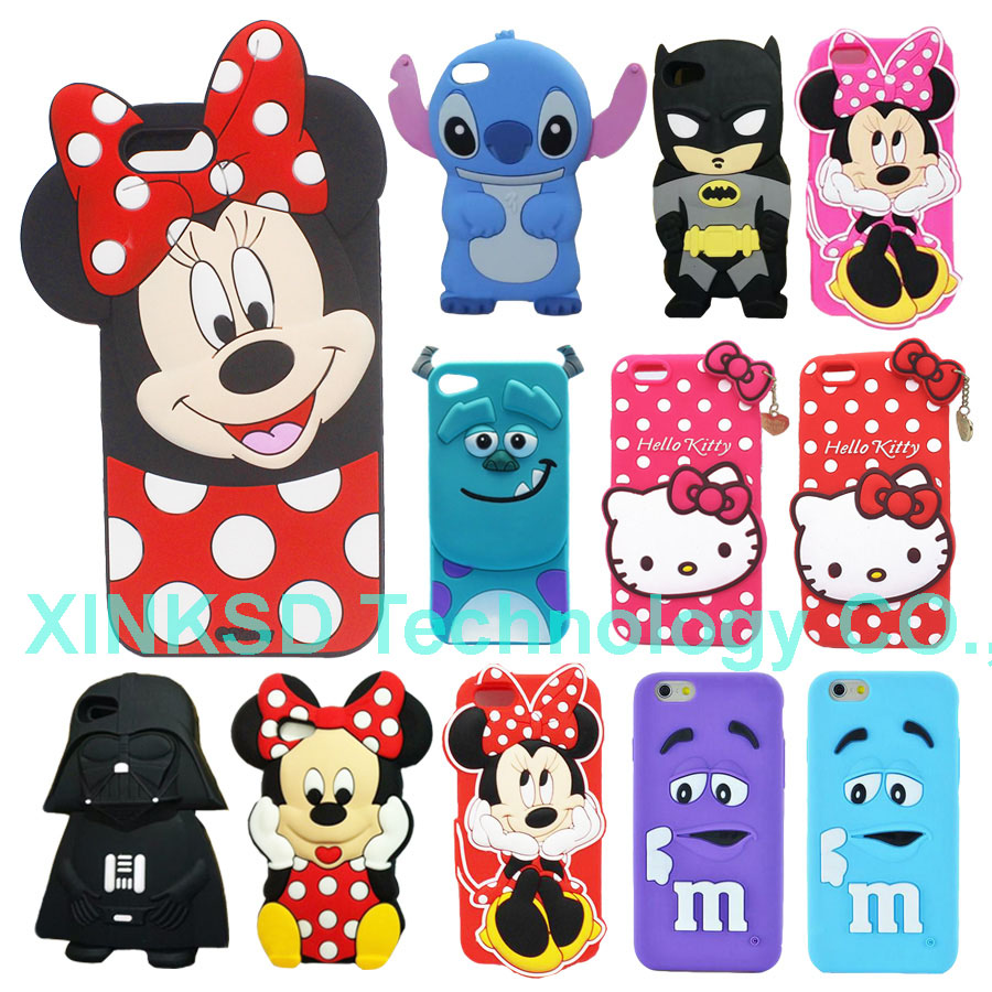 Phone Back Shell Apple iPhone 7 Case Cute 3D Cartoon Stitch Star Wars Darth Vader Soft Silicon Cover Skin Iphone7
