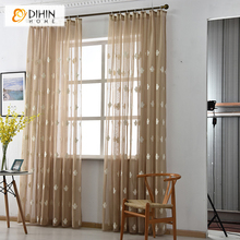 New Arrival 3 Colors Stars Linen/Cotton Curtains For Living Room Window Screening Tulle Curtain For Bedding Room