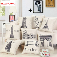Pillow Case Home Textiles supplies Cushion Cover Lumbar Pillow cartoon style decorative throw pillows chair seat(China)