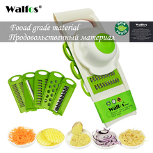 WALFOS Mandoline Peeler Grater Vegetables Cutter tools with 5 Blade Carrot Grater Onion Vegetable Slicer Kitchen Accessories(China)