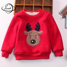 YAUAMDB kid hoodies 2017 autumn winter boys girls 3-11Y cotton children cartoon deer sweatshirts christmas pullover clothing y30(China)