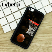 LvheCn TPU Phone Cases For iPhone 6 6S 7 8 Plus X 5 5S 5C SE 4 4S ipod touch 4 5 6 Cover Basketball Net Love this