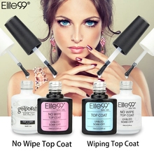 Elite99 No Wipe / Wiping Top Coat UV Top Coat Gel Nail Art Salon Transparent Nail Polish Or Matt Top Coat Nail Polish(China)