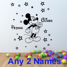 New Mickey Mouse Personalized Kid's Name Wall Sticker Child Name Nursery Sticker Wall Stickers For Kid's Rooms DIY Wall Decor