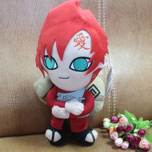 12inch 32cm Japanese Anime Naruto Gaara Cosplay Costume Soft Stuffed Plush Toys Doll Gift(China)