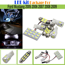 Auto Map Trunk License Plate Light For Ford Mustang 2005-2009 Car Interior LED Kit Package 7 Pieces 5630 Chip LED Bulb White
